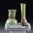 Pair of two Roman glass vessel, 2nd.-4th. century AD