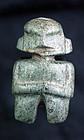 Massive Pre columbian guerrero mezcala jade axe god figure!