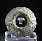 Rare Sumerian stone macehead, 3rd. millenium BC