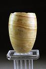 Ancient Egypt alabaster jar, Old Kingdom, 2575-2134 BC