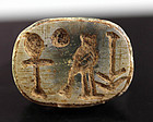 Choice Egypt scarab with fine Hieroglyphs of Horus, New Kingdom