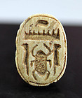 Rare Egyptian scarab stamp seal - Cartouche of Thutmose III!
