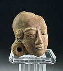 Superb Early Javanese pottery Majahapit head 13th. century AD