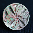 Large Egyptian faiance 'rosette' stamp seal, 2nd. millenum BC