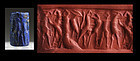 Finely engraved Mesopotamian Lapis Lazuli cylinder seal, ED!