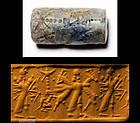 Rare superb style Neo-Assyrian lapis Lazuli cylinder seal!