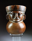 Pre-Columbian Moche figural Warrior Vessel w. TL test