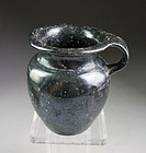 Superb Greek Italy Apulian pottery jug with black glaze