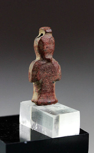 Superb Egypt red Jasper Isis Knot amulet late period - ex Haeberlin