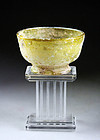 A choice Roman footed glass bowl,