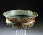 Superb Achaemenid bronze bowl phial, ca. 6th. century B.C.