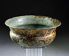 Superb Achaemenid bronze bowl phial, ca. 6th. century B.C.
