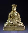 High Quality Sino-Tibetan bronze figure of a Lama!