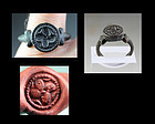 Substantial Roman bronze seal (signet) ring, 4th.-6th. century