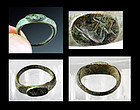 Scarce Imperial Roman bronze seal ring engraved with Dolphin