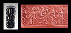 Splendid rare Babylonian Cylinder seal contest scene, 2nd. mill BC