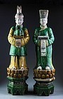 Pair of Museum Quality Chinese Ming pottery figures!