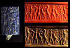 Fine Mesopotamian Lapis lazuli Cylinder seal, Early Dynastic!