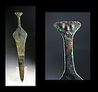 Rare Bactrian short sword w Human face, 2nd. millenium BC!