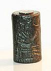 Fine UR III Babylonian cylinder seal, 2192-2004 B.C.