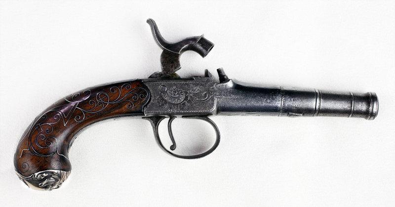 English Percussion Conversion Pistol by Ketland Gun Maker - Late 1800