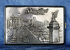 Antique Chinese Export Shanghai Sterling Silver Cigarette Case