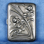 Art Nouveau Vienna Secession Sterling Silver 800 Cigarette Case