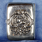 British Art Nouveau Sterling Silver Cigarette Case - Birmingham 1903