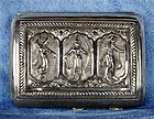 Antique Asian Thai Goddesses Silver Cigarette Case Circa 1900