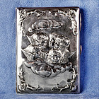 English Art Nouveau Horton & Allday Repoussé Cigarette and Vesta Case