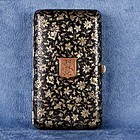 French Niello Sterling Silver Cigarette Case with Gilt Striker C.1900