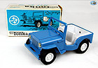 Pristine 1970's Mini-Tonka Blue Jeep No 30 with Original Box