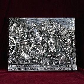 "Henryk Winograd War Plaque ""The Battle of Spotsylvania"" HW .925 Silver"