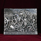 "Henryk Winograd War Plaque ""The Battle of Spotsylvania"" HW .925 Silver"