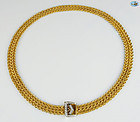 Interlaced Chain Necklace with Diamonds in 14K Gold - 98.83 gr. 23""