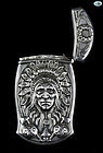Antique Indian Head Gorham Sterling Silver Repoussé Match Safe, 1850