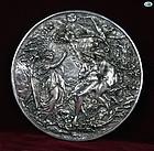 Henryk Winograd Adam & Eve Garden of Eden Plaque .925 Silver Repoussé