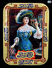 "Pepsi-Cola Gibson Girl, ""Drink Pepsi-Cola 5 C"" Rectangle Tin Tray 1982"