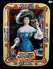 "Pepsi-Cola Gibson Girl, ""Drink Pepsi-Cola 5 C"" Rectangle Tin Tray 1982"
