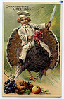 Antique Embossed 'Thanksgiving' Greeting Postcard - Circa 1900