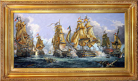 Stunning Orlinski, A.A - The Battle of Trafalgar Painting