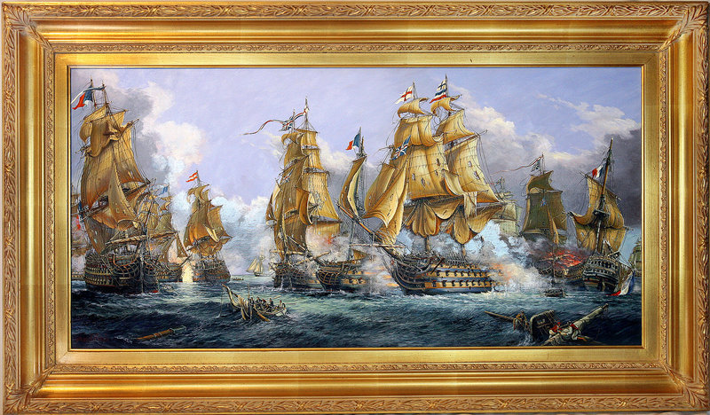 Stunning Orlinski, A.A - The Battle of Trafalgar Painting