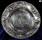 Berthold Muller Antique Silver Tray in Amazing Repoussé - 1898