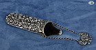 Sterling Silver Repoussé Spectacle Eyeglasses Case with Chain -1880