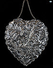 Vintage Silver Wall Mirror with Floral Repoussé, 683 Grams,1900
