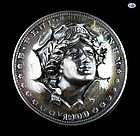 American 1900 Morgan Silver Dollar Pop Out 3 D Punched Pressed Brooch