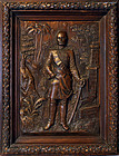 General C. G. Gordon Hand Engraved High Relief Wooden Art Mid 1800