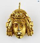 1850 Charming 18K Yellow Gold Rose Cut Diamond Pendant/Brooch 15.60 Gr