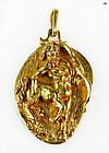 Adorable Antique Zodiac Sagittarius 18K Yellow Gold Pendant 22.47 Gr.