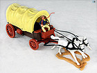 Timpo Wild West Action Cowboy with Carriage and Horses Complet